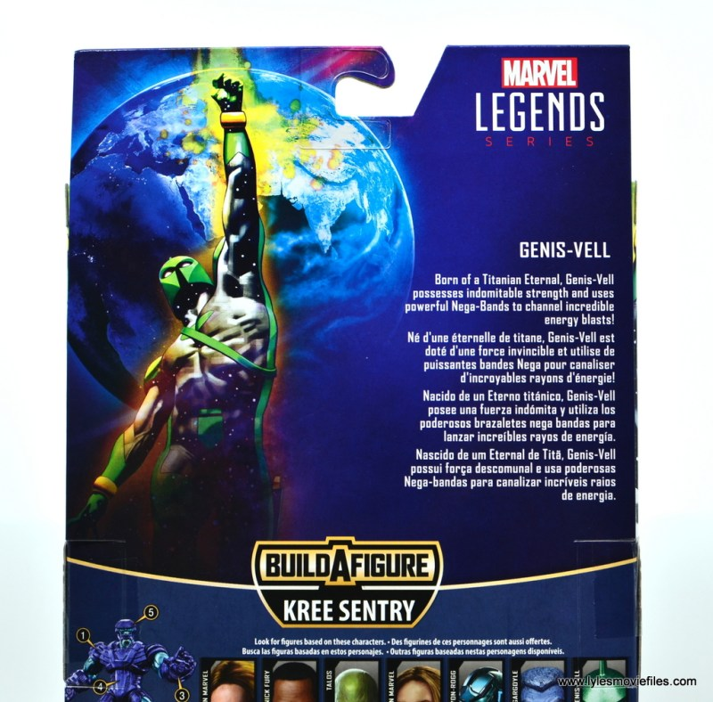marvel legends genis-vell figure review - package bio
