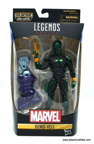 marvel legends genis-vell figure review - package front