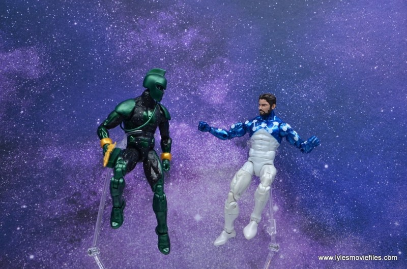 marvel legends genis-vell figure review - with cosmic spider-man