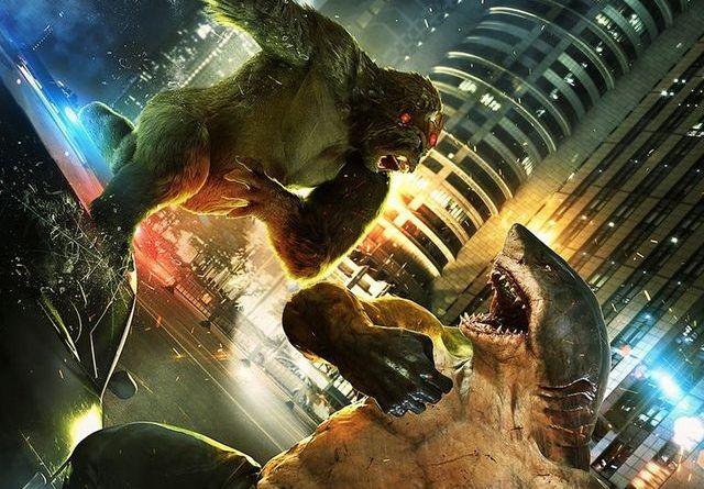 the flash - killer shark vs gorilla grodd review - grodd vs shark