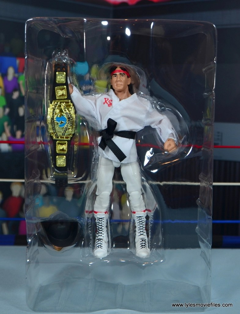 wwe elite flashback ricky steamboat figure review - accessories