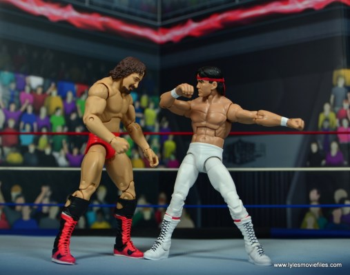 wwe elite flashback ricky steamboat figure review - chopping terry funk