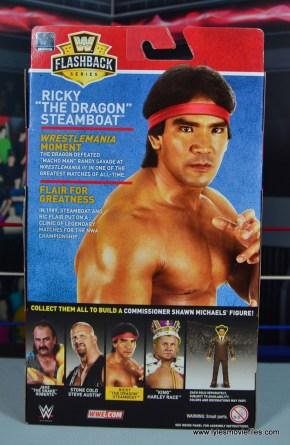 wwe elite flashback ricky steamboat figure review - package rear