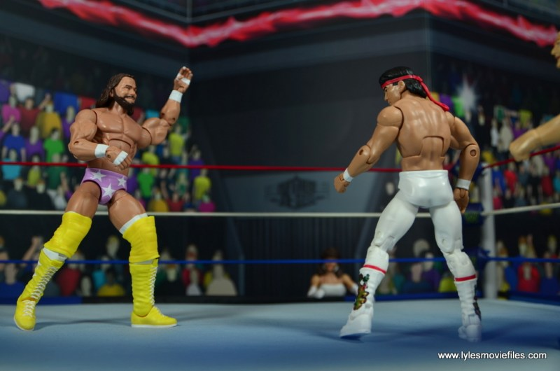 wwe elite flashback ricky steamboat figure review - wrestlemania 3 face off with savage