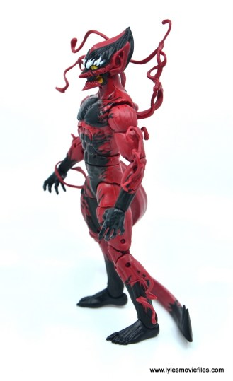 marvel legends red goblin figure review - left side