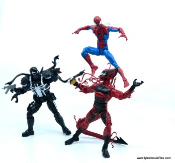 marvel legends red goblin figure review - vs agent venom and spider-man