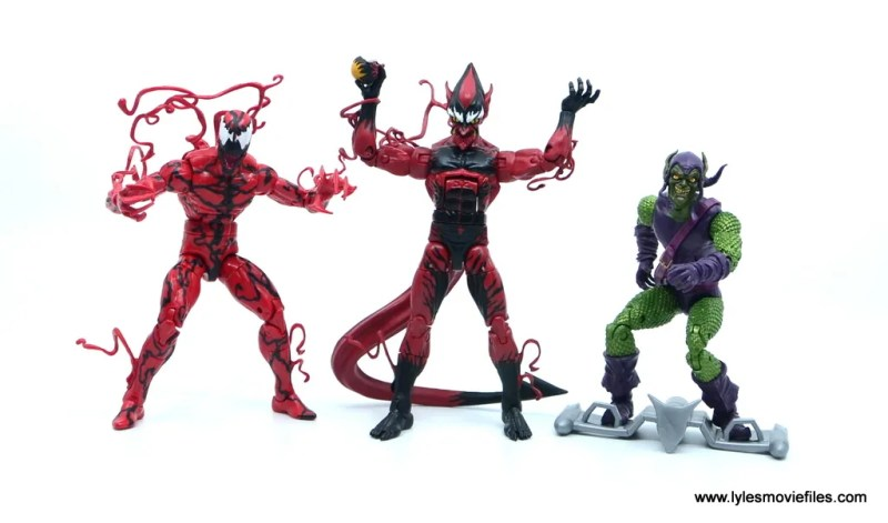 marvel legends red goblin figure review - with carnage and green goblin