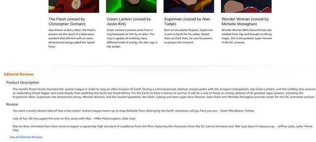 Amazon.com Justice League War [Blu-ray] Alan Tudyk, Michelle Monaghan, Shemar Moore, Sean Astin, Christopher Gorham, Jay Oliva, James Tucker, Heath Corson Movies & TV