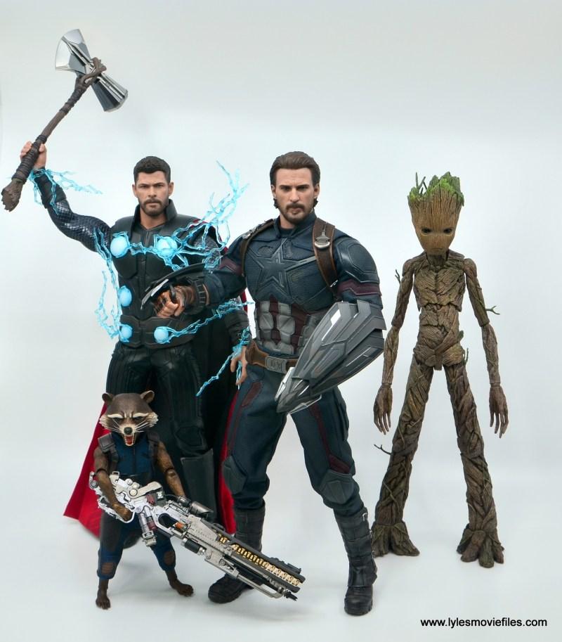Hot Toys Avengers Infinity War Captain America figure review - avengers assemble