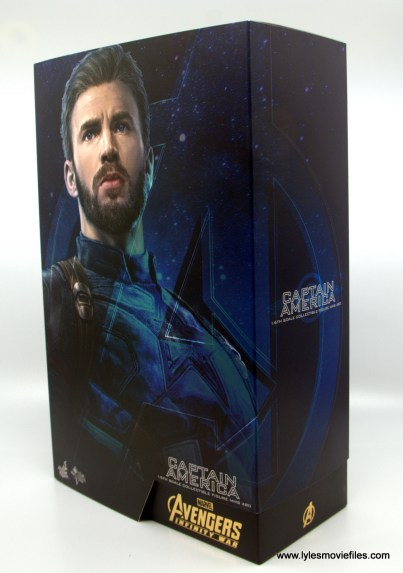 Hot Toys Avengers Infinity War Captain America figure review - package left side