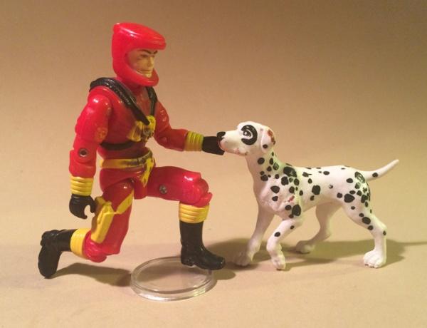 gi joe eco warriors barbecue - with dog