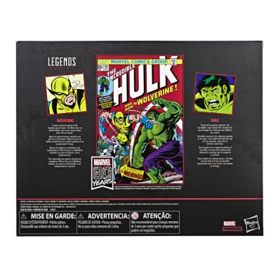 MARVEL LEGENDS SERIES 80TH ANNIVERSARY Figure - Hulk & Wolverine 2-Pack (pckging)