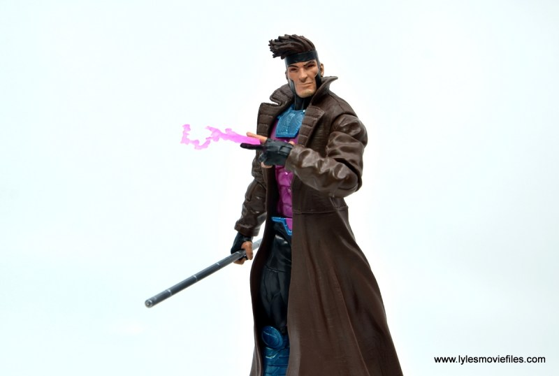 Marvel Legends Gambit figure review - with staff and single card
