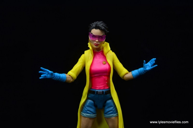 Marvel Legends Jubilee figure review - wide with hands out