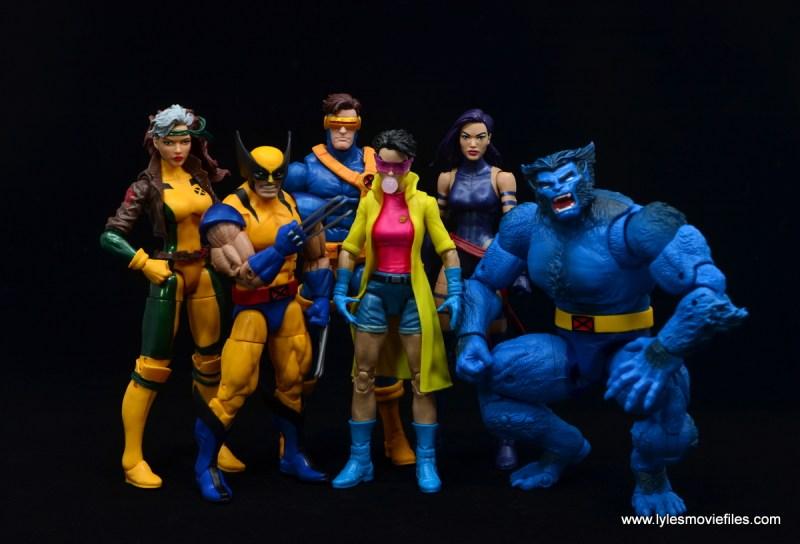 Marvel Legends Jubilee figure review - x-men blue team