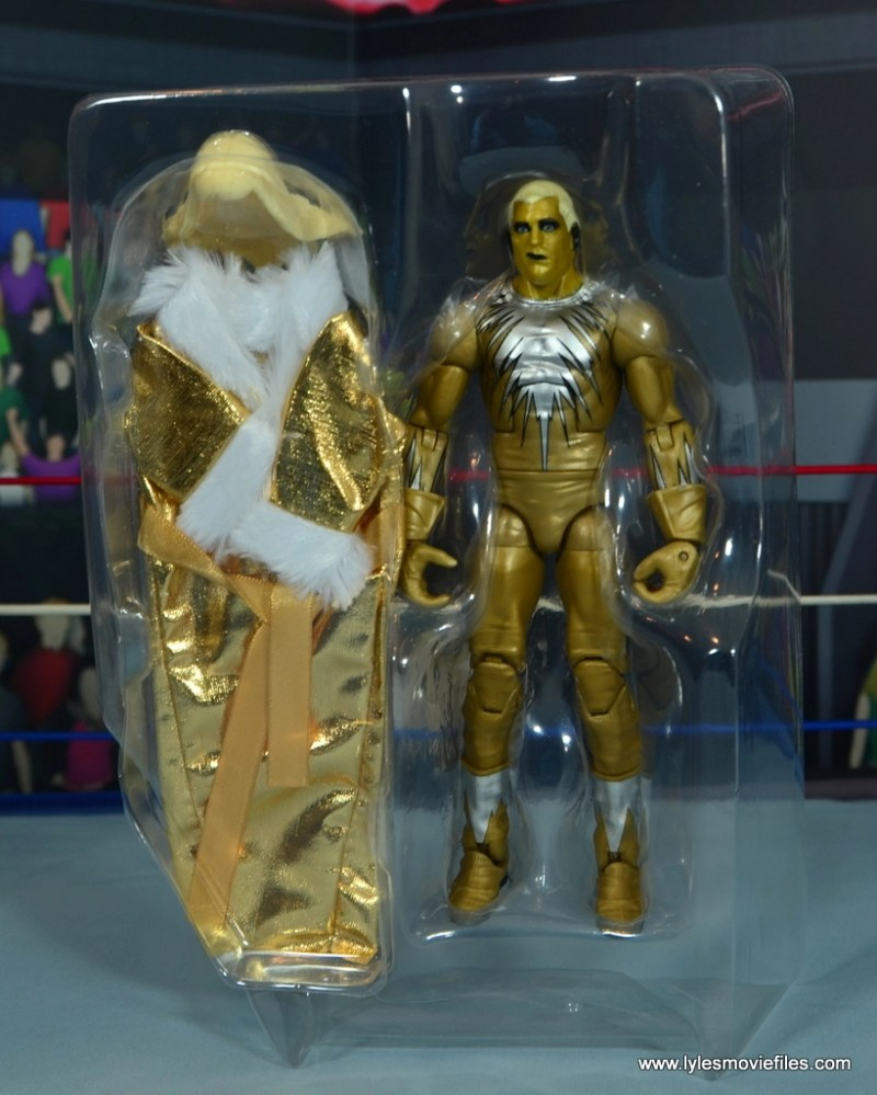 WWE Goldust figure review - accessories in tray