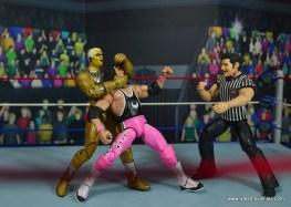 WWE Goldust figure review - sleeper on bret hart