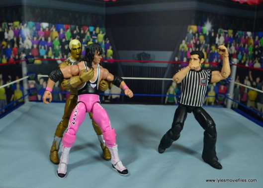 WWE Goldust figure review -toying with bret hart