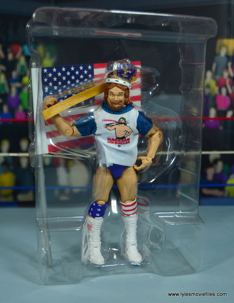 WWE Retrofest Hacksaw Jim Duggan figure review - accessories