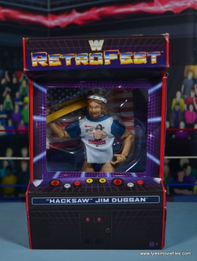 WWE Retrofest Hacksaw Jim Duggan figure review - package front