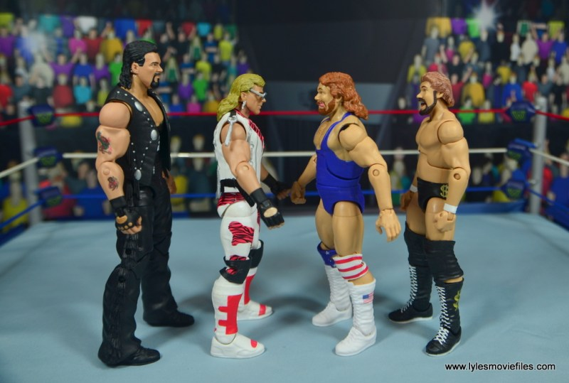 WWE Retrofest Hacksaw Jim Duggan figure review - scale with diesel, shawn michaels and ted dibiase