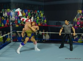 WWE Retrofest Hacksaw Jim Duggan figure review - slamming shawn michaels