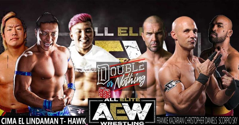 aew double or nothing - scu vs ciman, lindaman and thawk