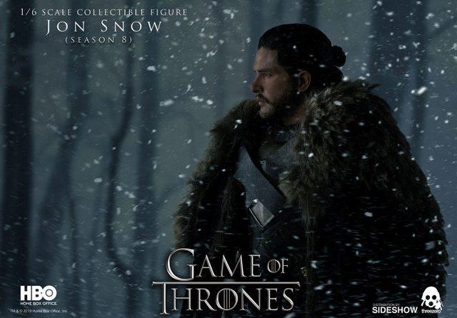 game of thrones jon snow season 8 figure - looking in the snow