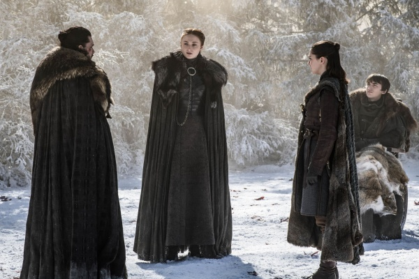 game of thrones - the last of the starks review -jon, sansa, arya and bran