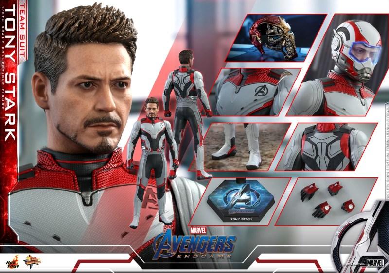 hot toys avengers endgame tony stark team suit - collage