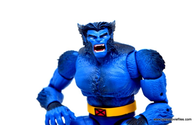 marvel legends beast figure review -close up