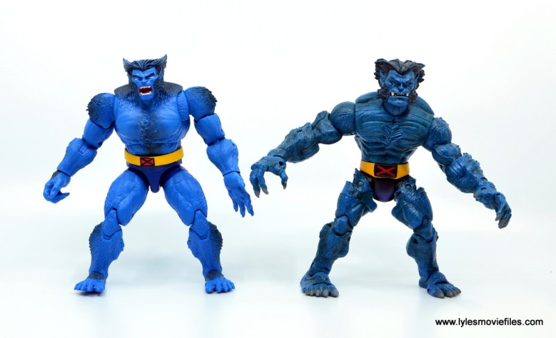marvel legends beast figure review -comparison with toy biz beast