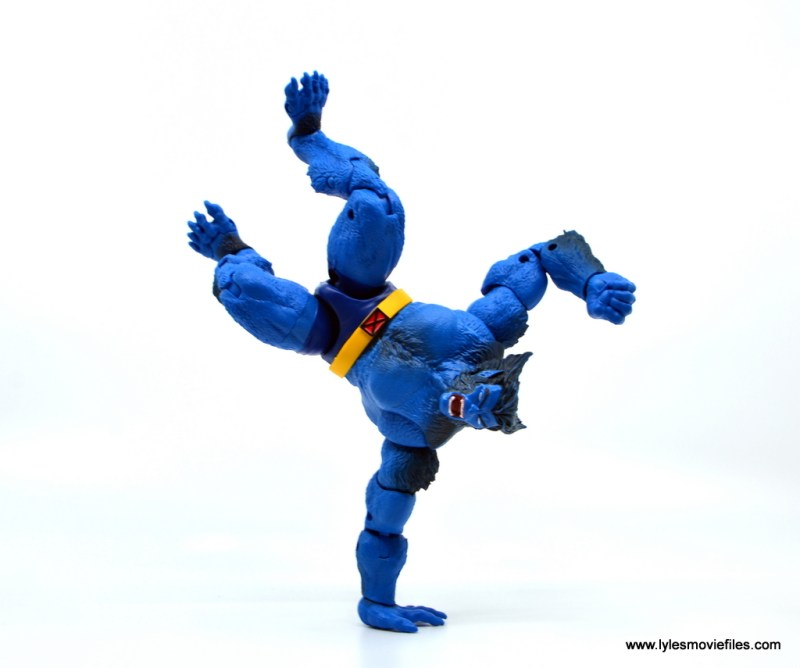 marvel legends beast figure review -handstand