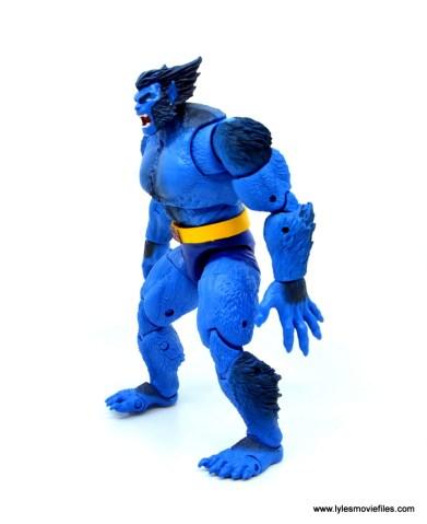 marvel legends beast figure review -left side