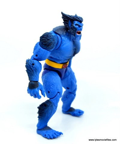marvel legends beast figure review - right side