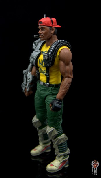 neca aliens sgt apone figure review - left side
