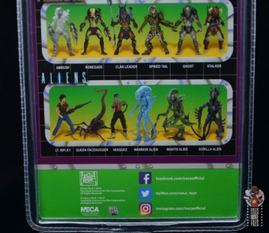 neca aliens sgt apone figure review - package bio bottom