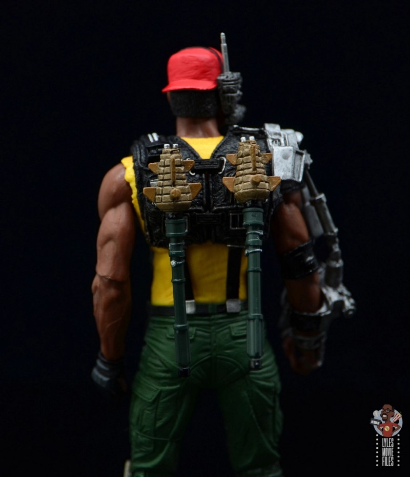 neca aliens sgt apone figure review - pineapple grenades attached
