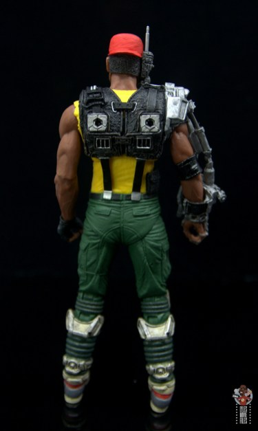 neca aliens sgt apone figure review - rear