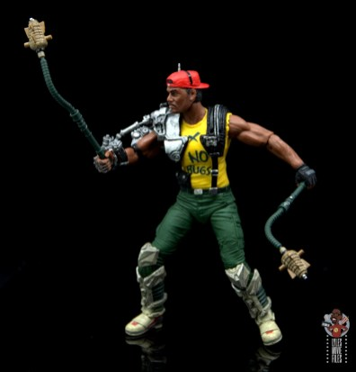 neca aliens sgt apone figure review - twirling pineapple grenades