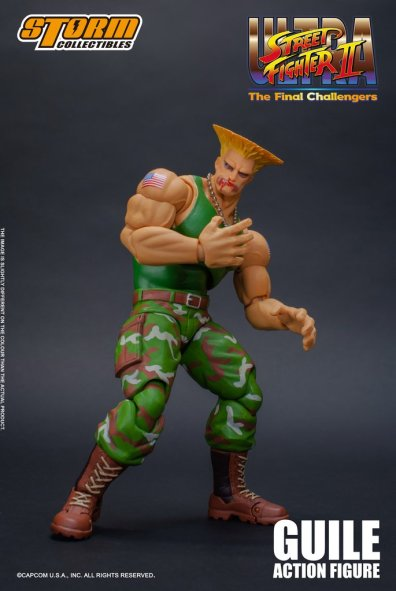 storm collectibles street fighter ii guile figure - bloody