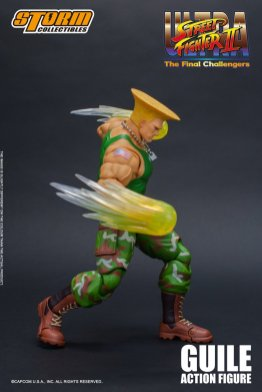 storm collectibles street fighter ii guile figure - channeling sonic booms