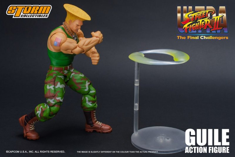 storm collectibles street fighter ii guile figure - sonic boom