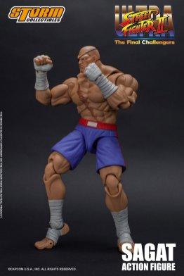 storm collectibles street fighter ii sagat figure - battle pose