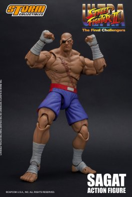 storm collectibles street fighter ii sagat figure - ready to fight