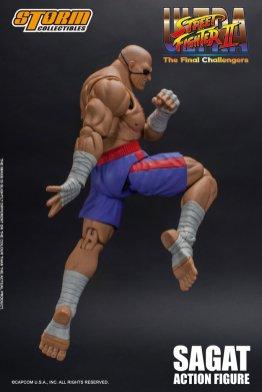 storm collectibles street fighter ii sagat figure - tiger knee