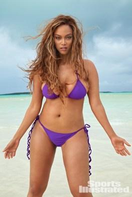tyra banks sports illustrated 2019 pictorial - purple bikini