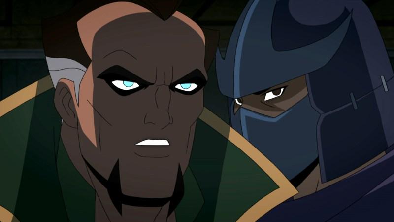 batman vs teenage mutant ninja turtles review - ra's al ghul and shredder