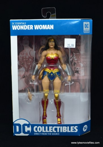 DC Essentials Wonder Woman figure review - package front