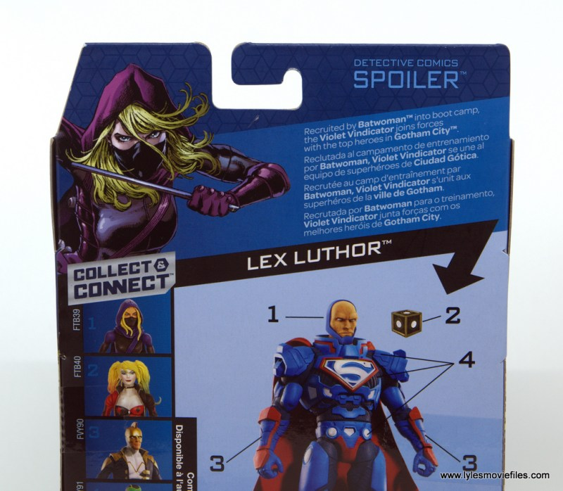 DC Multiverse Spoiler figure review - package bio